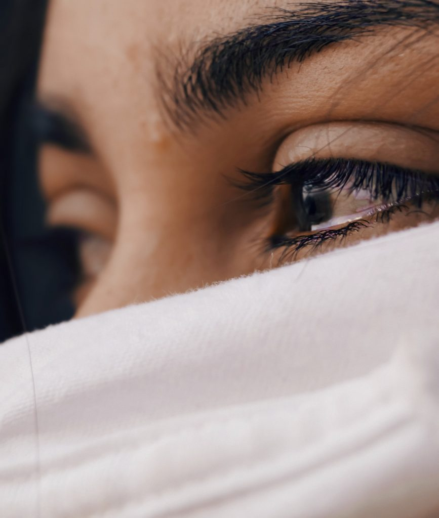 Image: A woman crying (Am I Breaking My Kids? Dealing With Mom Guilt Janeris Marte Contributor Miami Mom Collective)