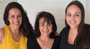 Alisa with her mom and grandmother (Wisdom and Reflections on Motherhood by 3 Generations of Miami Moms Alisa Britton Contributor Miami Mom Collective)