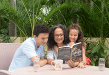 Adita reading with her kids (Parenting: The Ups, Downs, and All the Way Arounds Adita Lang Contributor Miami Mom Collective)