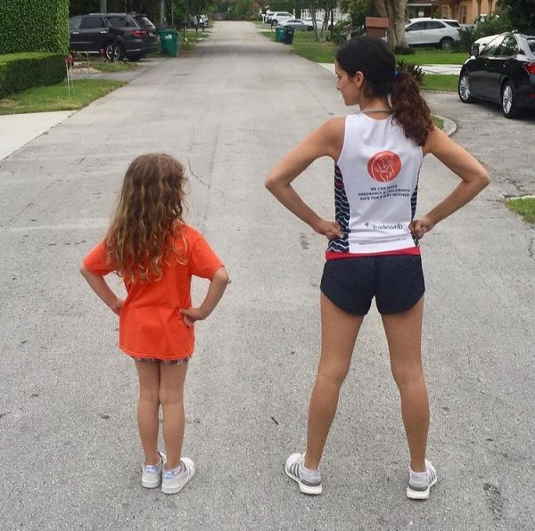 Kristen and her daughter (Run Like A Mother: A Beginner's Guide to Running Kristen Llorca Contributor Miami Mom Collective)
