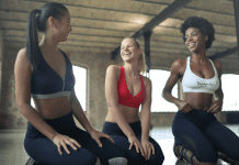 Three women working out (National Women's Health Week & Why It's Important for Moms Zoe Costa Contributor Miami Mom Collective)