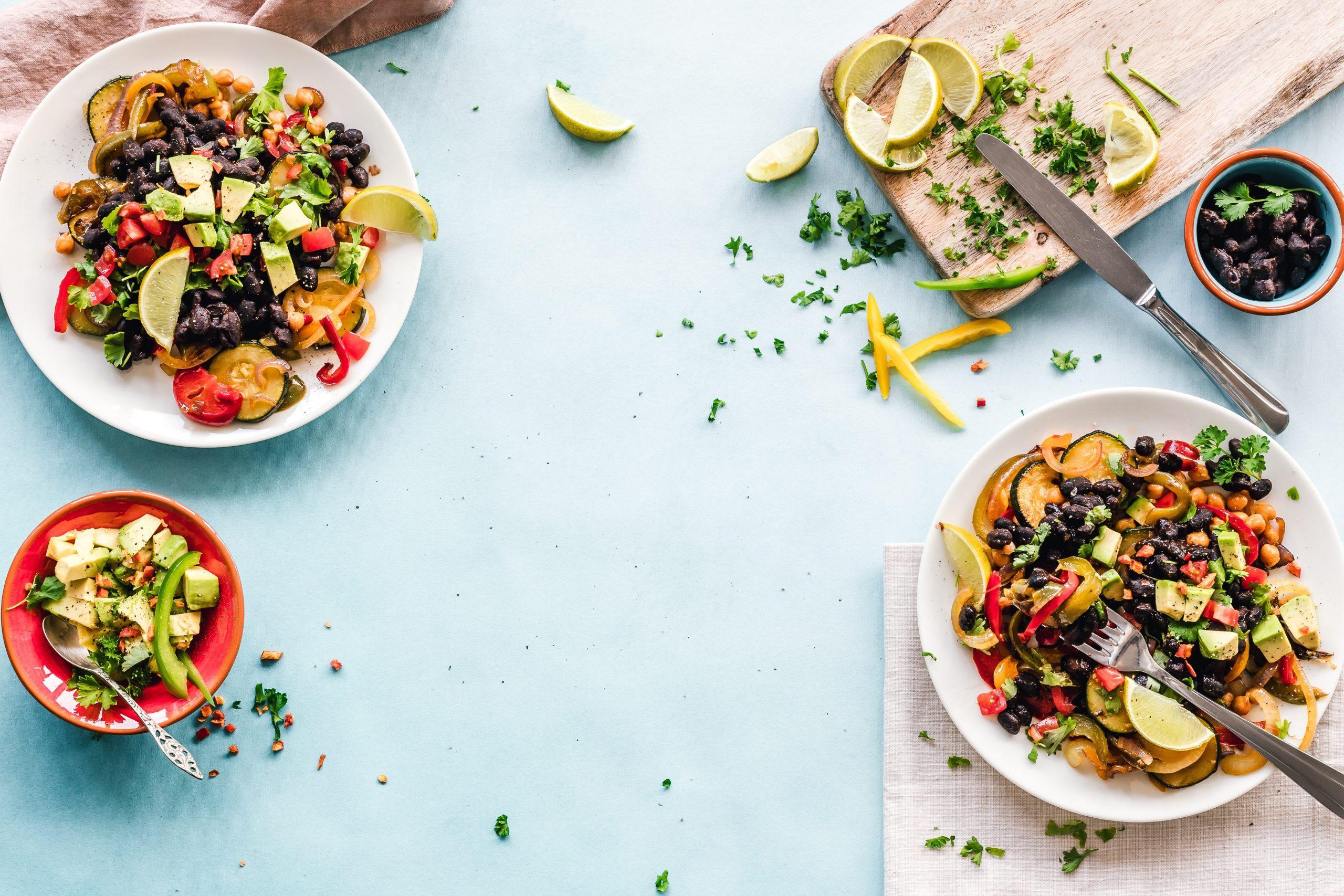 Salad dishes (Zoe Costa Contributor Miami Mom Collective)