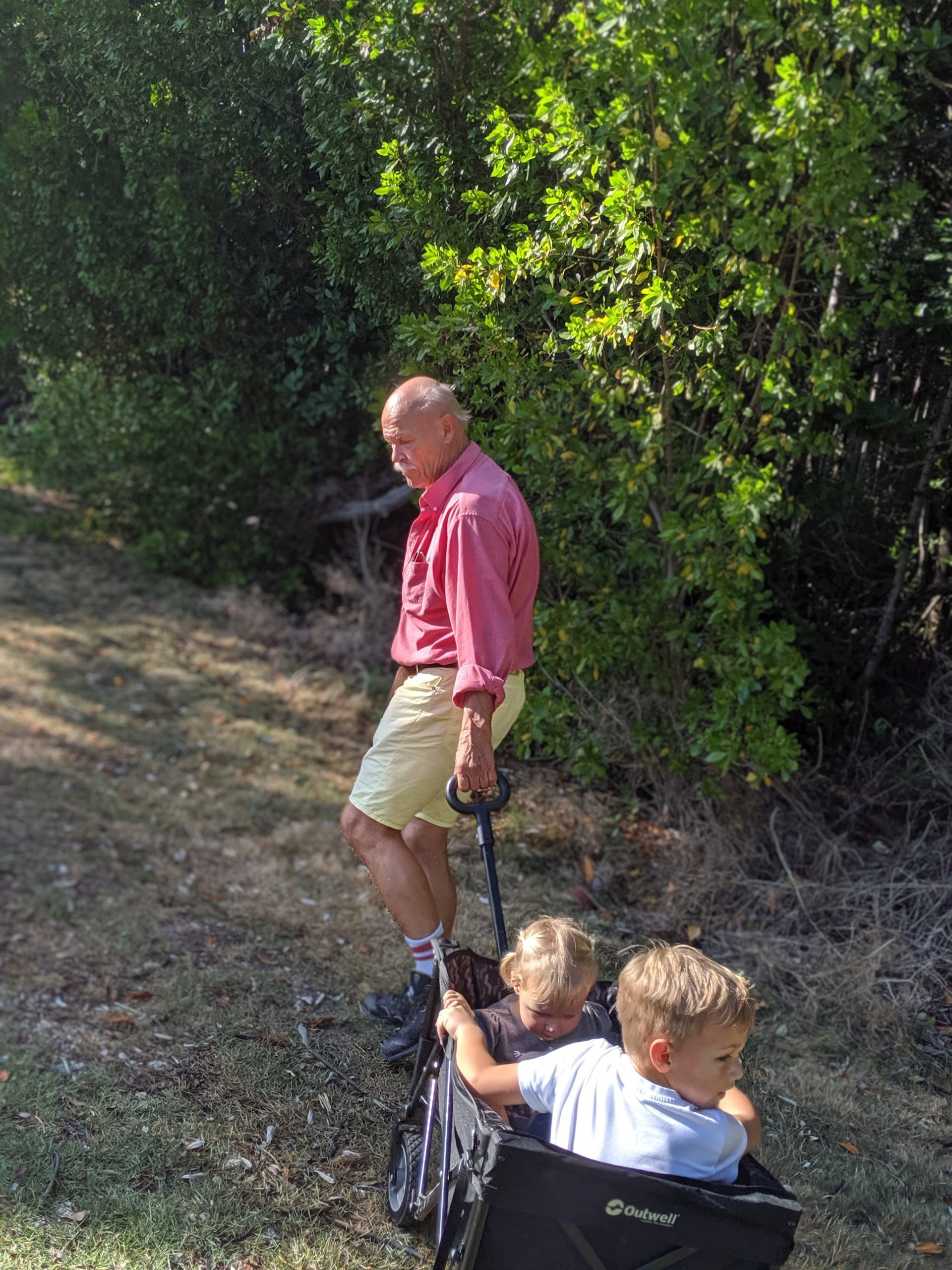 Rachel's kids with their grandpa (Rachel Hulsund Contributor Miami Mom Collective)