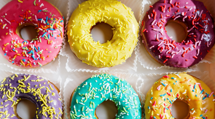 A box of donuts with sprinkles (National Donut Day: Make it A-Glaze-ing! Ana-Sofia DuLaney Contributor Miami Mom Collective)