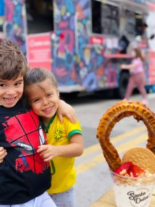 Valerie's children enjoying a treat in Downtown Doral (Love Where You Live: Why I Love Living in Doral Valerie Barbosa Contributor Miami Mom Collective)