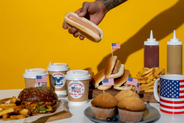 Festive food at a 4th of July picnic (Fireworks: What to Do and Where to See Them in Miami on the 4th of July Bella Behar Contributor Miami Mom Collective)