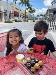 Valerie's children enjoying some cupcakes from Bunnie Cakes (Love Where You Live: Why I Love Living in Doral Valerie Barbosa Contributor Miami Mom Collective)