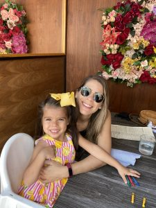 Valerie's sister and daughter at Bachour (Valerie Barbosa Contributor Miami Mom Collective)