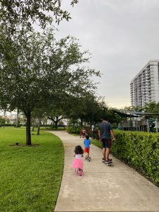 Valerie's family enjoying one of Doral's parks (Valerie Barbosa Contributor Miami Mom Collective)