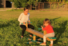 Kristina on a see saw with her daughter (Making Changes: Taking A Step Back In Order To Move Forward Kristina Fiorentino Contributor Miami Mom Collective)