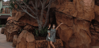 """Sandra and her son at Islands of Adventure (Universal Orlando: The """"Other"""" Theme Park Sandra Jacquemin Contributor Miami Mom Collective)"""