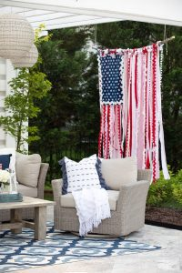 A red, white, and blue rag flag (Summer 2021 Parties Made Easy Aymee Blanco Contributor Miami Mom Collective)