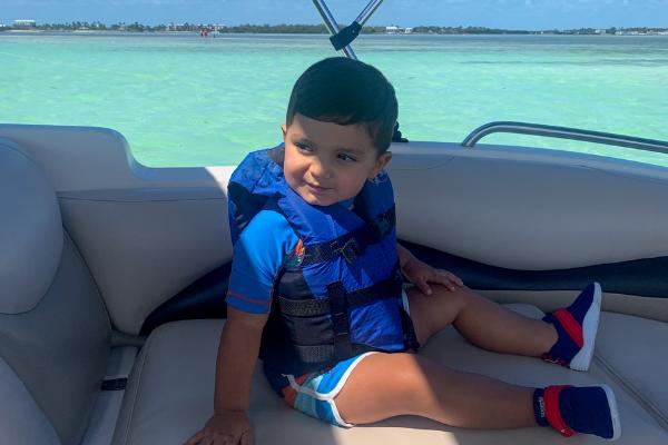 Bella's son enjoying a boat tour in Islamorada (Family Fun in the Florida Keys: Where to Go & What to Do Bella Behar Contributor Miami Mom Collective)