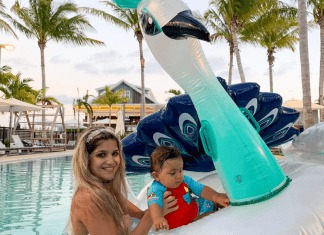 Bella and her son enjoying some pool time in the Keys (Family Fun in the Florida Keys: Where to Go & What to Do Bella Behar Contributor Miami Mom Collective)