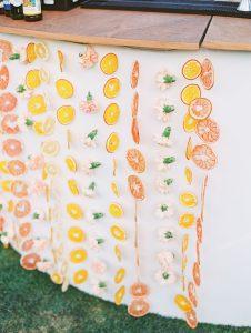 Citrus fruit garlands (Aymee Blanco Contributor Miami Mom Collective)