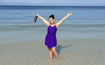Lorena at the beach at Marco Island (Family Fun at Marco Island Lorena Lougedo Contributor Miami Mom Collective)