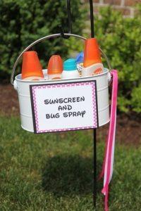 A sunscreen and bug spray station (Aymee Blanco Contributor Miami Mom Collective)