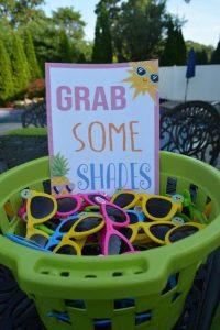 Sunglass paraty favors (Aymee Blanco Contributor Miami Mom Collective)