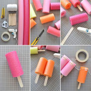 Pool noodle popsicle stick decorations (Aymee Blanco Contributor Miami Mom Collective)