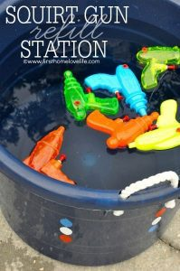 Squirt gun station (Aymee Blanco Contributor Miami Mom Collective)
