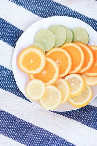 A plate of sliced citrus fruit (Aymee Blanco Contributor Miami Mom Collective)