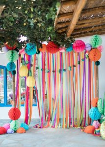 Tissue paper balls and streamers (Aymee Blanco Contributor Miami Mom Collective)