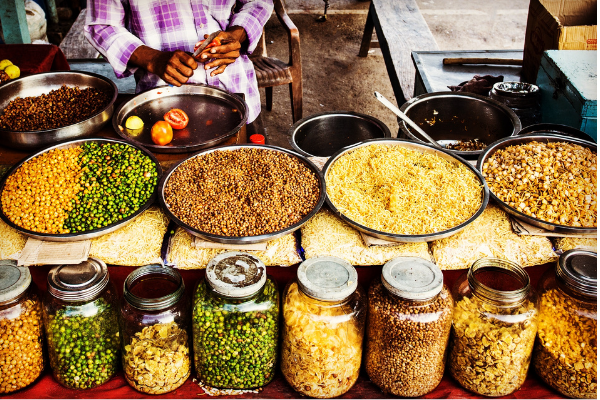 Beans and legumes being sold at a market (Lorena Lougedo Contributor Miami Mom Collective)