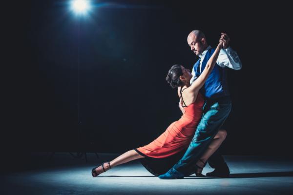 A couple dancing a tango (Hispanic Heritage Month: Ways to Celebrate Lorena Lougedo Contributor Miami Mom Collective)