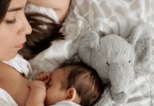 Valerie nursing her son (About Breastfeeding: 11 Surprising Things I Didn't Know Valerie Barbosa Contributor Miami Mom Collective)
