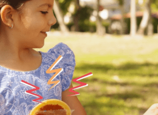 A little girl snacking on a ready to eat pancake from bakerly (Snack Time: Unwrap et Voilà With These Snacks From Bakerly Lynda Lantz Contributor Miami Mom Collective)