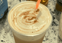 A cup of Alexa's homemade pumpkin cream cold brew (Pumpkin + Cold Brew: How To Make this Popular Fall Coffee at Home! Alexa Gonzalez Contributor Miami Mom Collective)