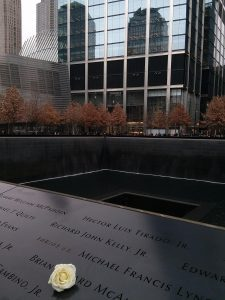 A photo of the September 11th Memorial in NYC (Remembering September 11th Becky Gonzalez Contributor Miami Mom Collective)