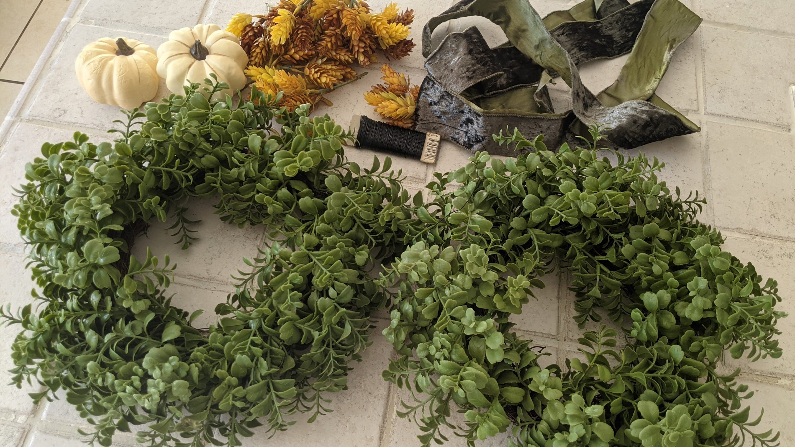 Image: Some supplies for DIY wreaths (Rachel Hulsund Contributor Miami Mom Collective)
